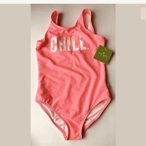 Kate Spade New York Girl Chill 1 Piece Swim Suit